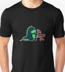 Kawaii Cute BBQ Dragon Dino Humor Geek Design Unisex T-Shirt