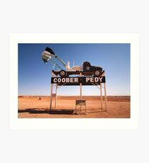 0541 Welcome to Coober Pedy Art Print