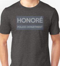 The HONORÉ POLICE DEPARTMENT gear! Unisex T-Shirt
