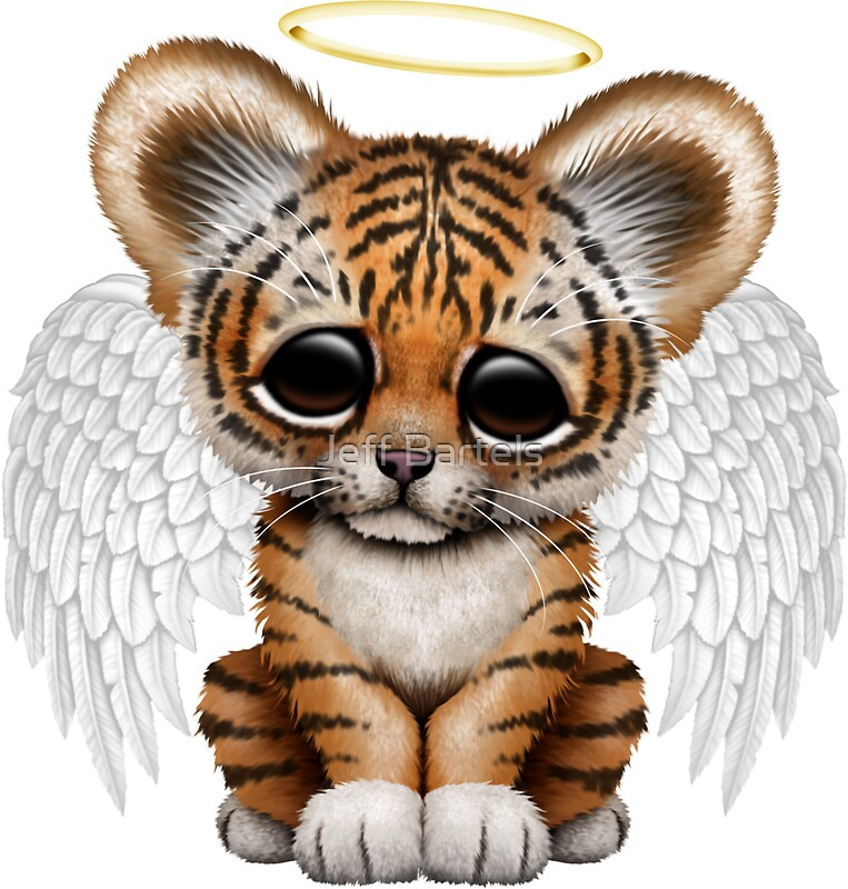 Quot Cute Baby Tiger Cub Angel Quot Stickers By Jeff Bartels