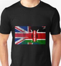 British Kenyan Half Kenya Half UK Flag T-Shirt