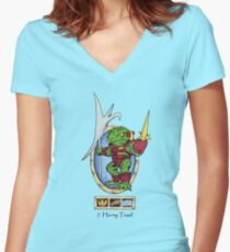 battle beasts 7. Horny Toad Women's Fitted V-Neck T-Shirt