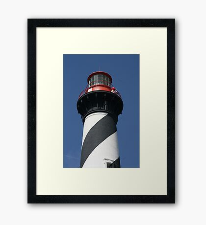 Top of St. Augustine Lighthouse Framed Print