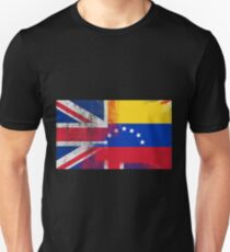 British Venezuelan Half Venezuela Half UK Flag T-Shirt