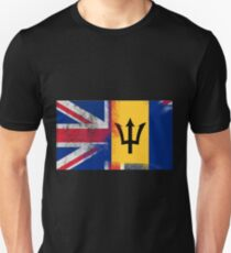 British Barbadian Half Barbados Half UK Flag Unisex T-Shirt