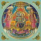 Radha Krishna in Ashtasakhi mandir by Vrindavan Das