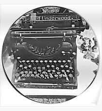 Underwood Vintage Typewriter Poster