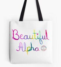 Beautiful Alpha Watercolor Tote Bag