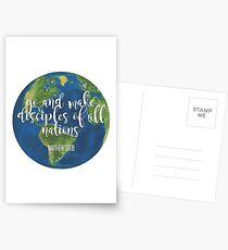 go and make disciples Postcards