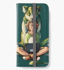 Der grüne Löwe iPhone Flip-Case/Hülle/Klebefolie