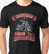 I Dream I Am A Motorcycle Vintage Soft Screen Printed Summer Graphic Gift Tshirt T-Shirt