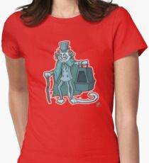 Catbox Ghost (by Richard Wallace) Womens Fitted T-Shirt