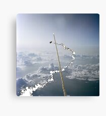 Spaceman Spiff races Space Shuttle Canvas Print