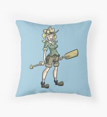 Skipperette (by Richard Wallace) Throw Pillow
