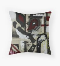 Blood and Bone #1 (Mixed Material Assemblage)- Throw Pillow