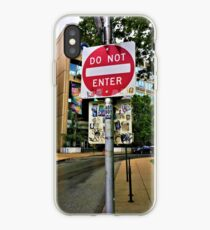 Do Not Enter - But Please Tag iPhone Case
