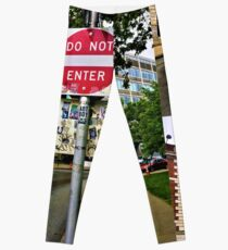 Do Not Enter - But Please Tag Leggings
