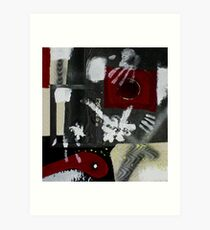 Blood and Bone #2 (Mixed Material Assemblage)- Art Print