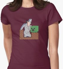 Brown Bricks Womens Fitted T-Shirt