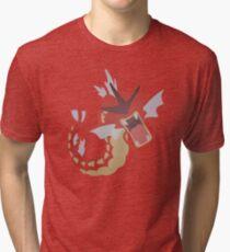 Red Gyarados Tri-blend T-Shirt
