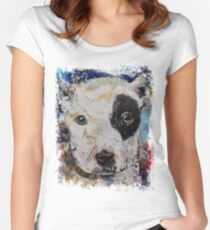 Pit Bull Puppy Women's Fitted Scoop T-Shirt