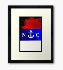 North Carolina Anchor Framed Print