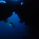 Diver in the mask by Trenemene