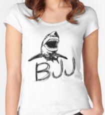 BJJ Shark Jiu Jitsu Women's Fitted Scoop T-Shirt