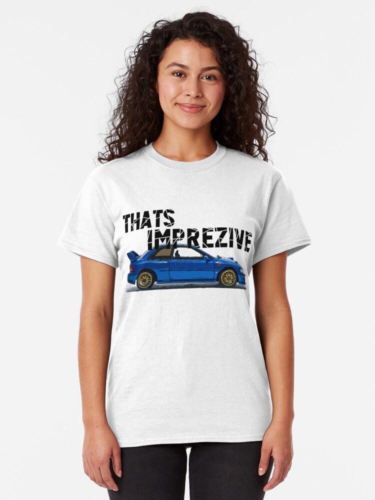 Vista alternativa de Camiseta clásica ¡Eso es Imprez! Subaru Impreza WRX STi 22B