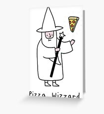Pizza Wizzard Greeting Card