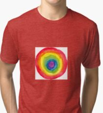 Energetic Abstractions - Painted Chakra Circle #6 Tri-blend T-Shirt