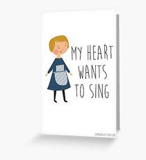 Klang der Musik Maria Grußkarte