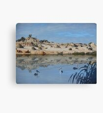 Lake Mungo - an unreal landscape Canvas Print