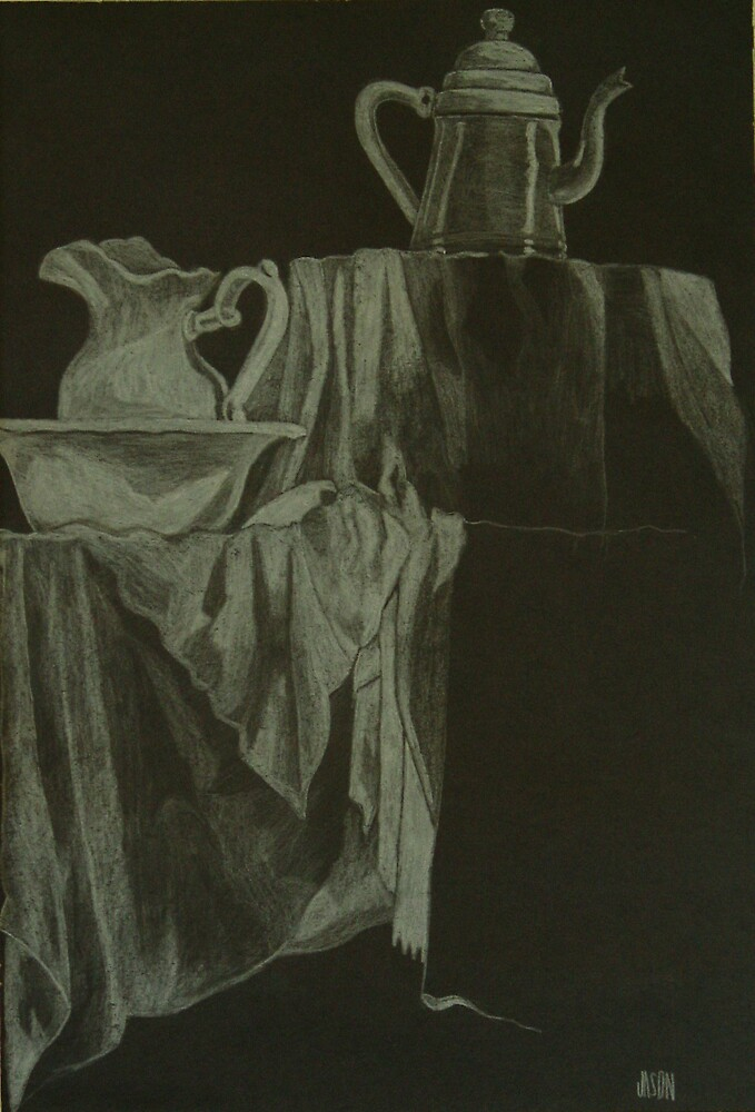 Antique Morning Charcoal Drawing by FierceDesign