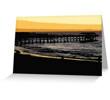 Henley jetty at dusk Greeting Card