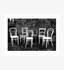 Black & White Bentwoods.... Art Print