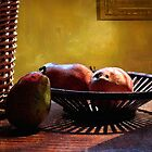 Pears in Morning Light - 2 by Larry Costales
