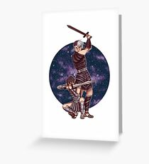 Space Gladiators Greeting Card