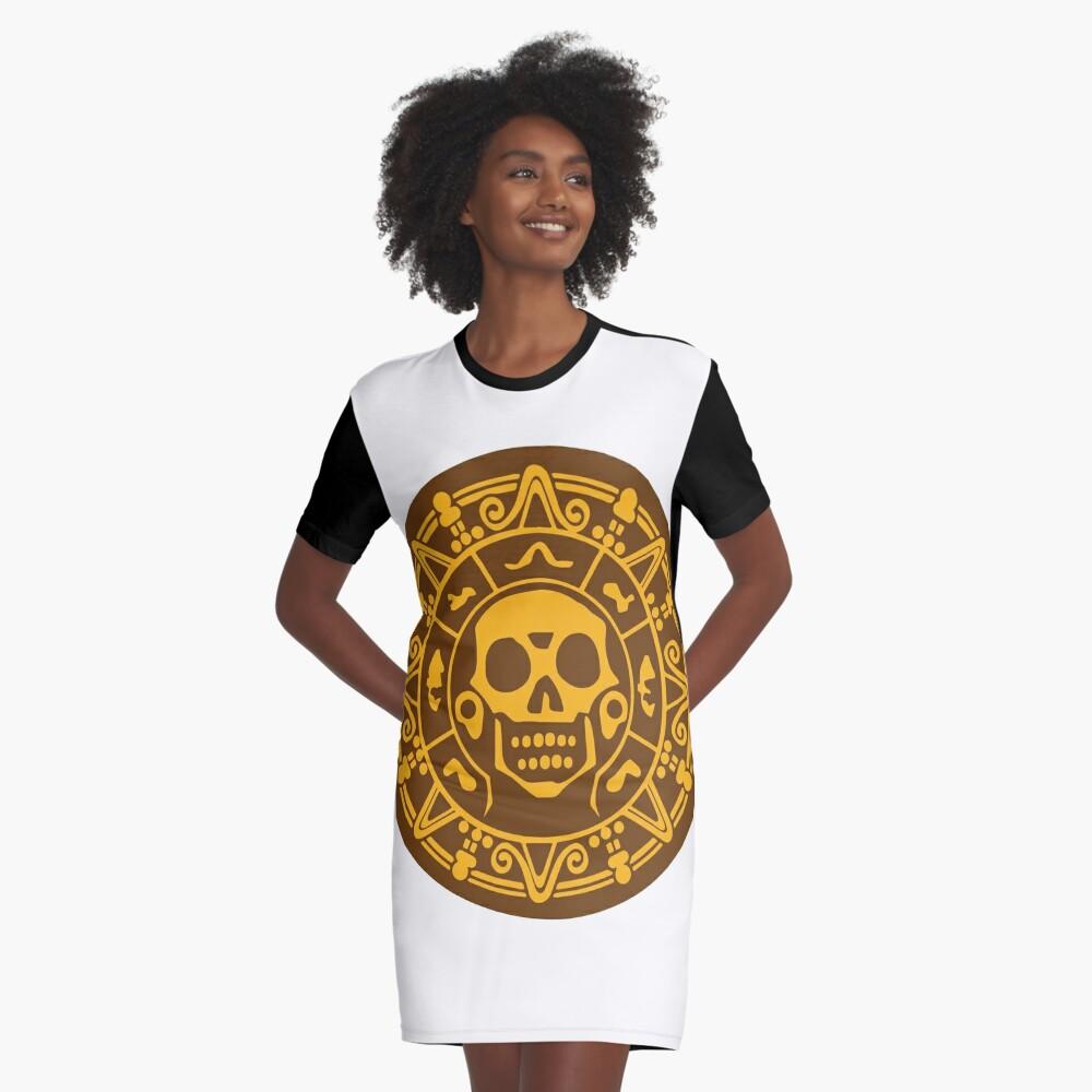 Medaillon Farbe T-Shirt Kleid
