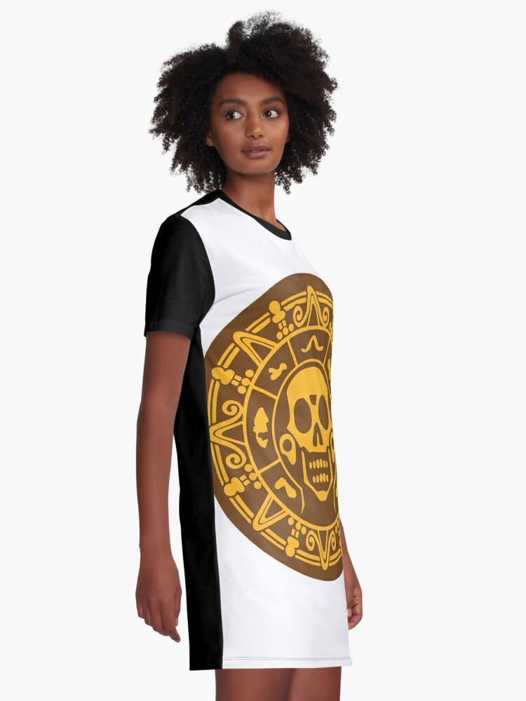 Alternative Ansicht von Medaillon Farbe T-Shirt Kleid