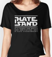For sand haters (white) Women's Relaxed Fit T-Shirt