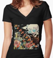 Sleeping Lessons Women's Fitted V-Neck T-Shirt