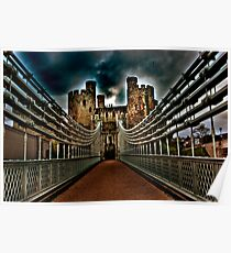 Conwy Castle Suspension Bridge Poster