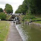 Putting One's Back Into It At Caen Locks by lezvee