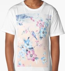Beautiful flower bird Long T-Shirt