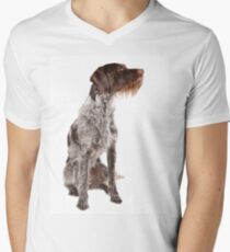German wire-haired pointer Men's V-Neck T-Shirt
