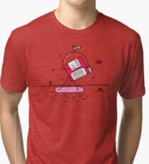 Mars in the 80s Tri-blend T-Shirt