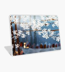 Red Fox and Cherry Bloom | What I Know about White Socks Laptop Skin