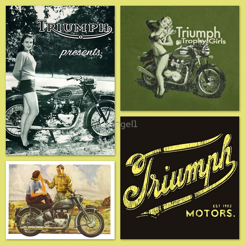 Retro motorcycle collage by ©The Creative  Minds