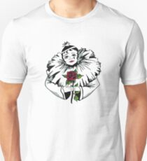 Pierrot with a red rose Unisex T-Shirt